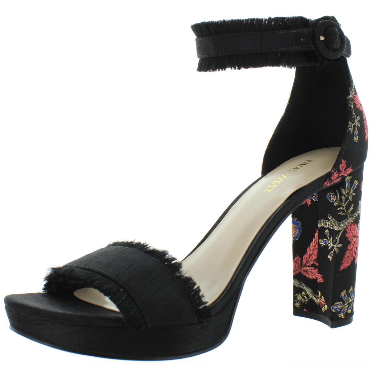 Nine West Womens Kushala Nubuck Espadrille Wedge Sandals Shoes BHFO 7013