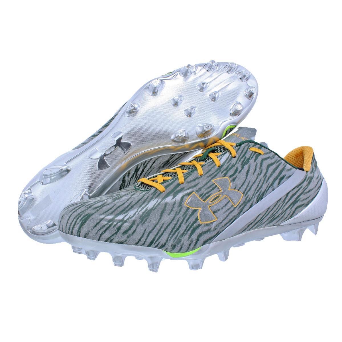 d1b134ea582 Under Armour Mens Spotlight Silver Football Cleats Shoes 16 Medium(d ...