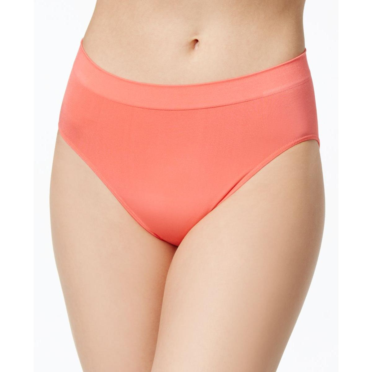 26808cfdb7 Details about Wacoal Womens B Smooth Pink High Cut Underwear Solid Brief  Panty M BHFO 0965