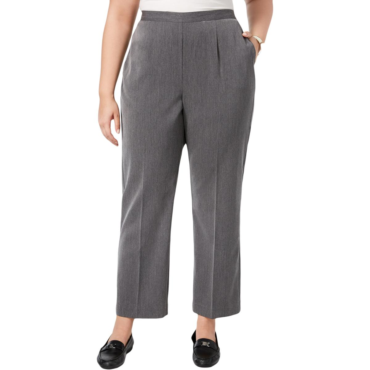 39b1f833da9c6 Alfred Dunner Womens Pull On Classic Fit Office Wear Ankle Pants ...