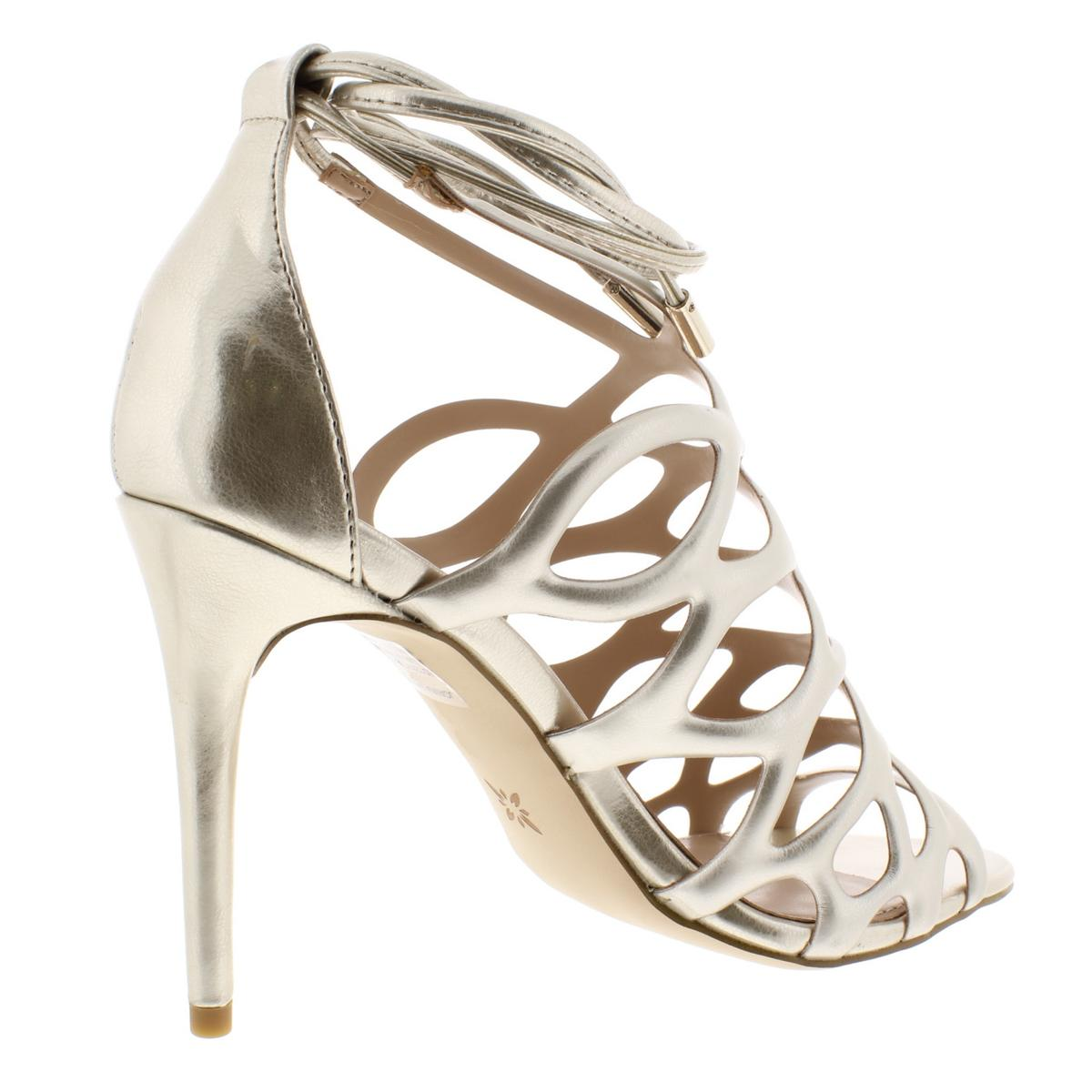 BCBGeneration-Womens-Joanna-Metallic-Caged-Dress-Sandals-Shoes-BHFO-8380 thumbnail 8