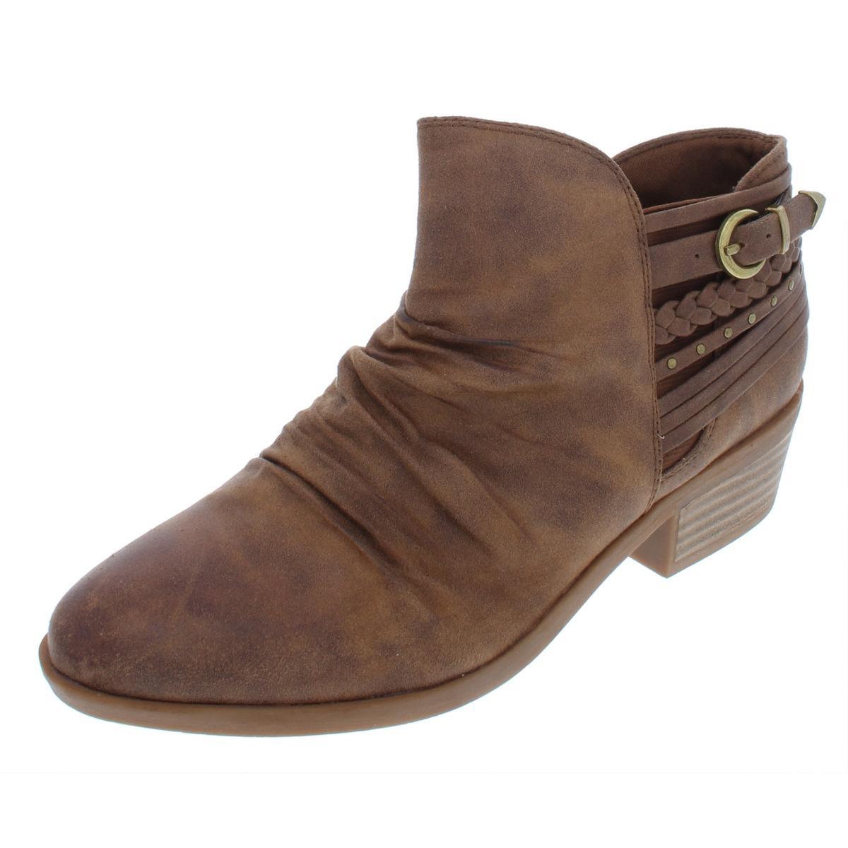 BareTraps para mujer guenna Imitación Gamuza zapatos ALMENDRAS TOE Acanalada Botines zapatos Gamuza  BHFO 6670 cefbd1