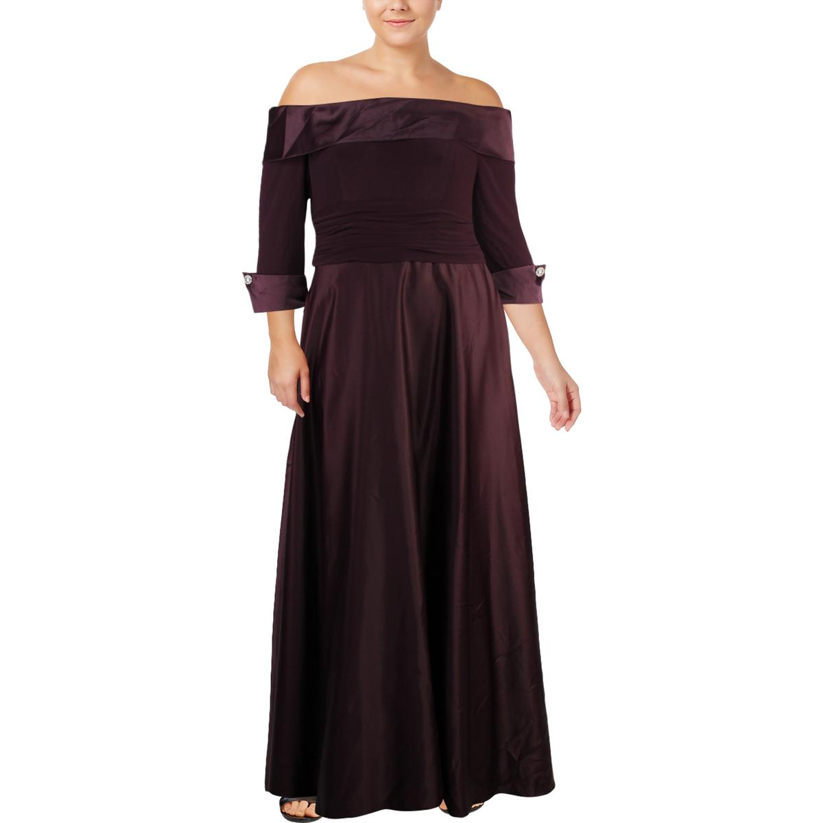 4f39bf72ba01 Details about Jessica Howard Womens Off-The-Shoulder Ball Gown Evening  Dress Gown BHFO 9434