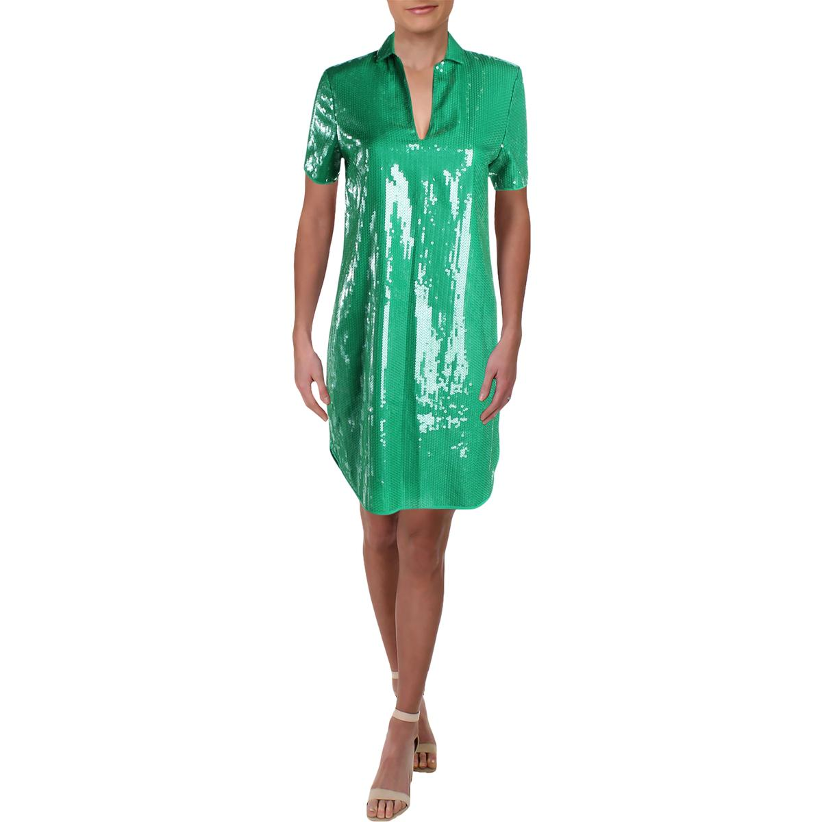 Halston Heritage Womens Sleeveless Halter Party Cocktail Dress BHFO 9853