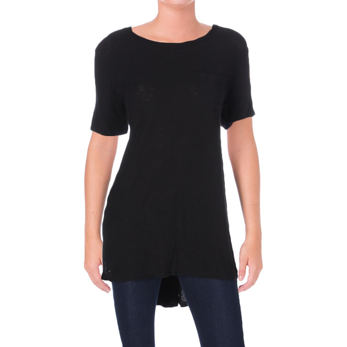 5bfd8130db7 Details about Michelle by Comune Womens Black Hi-Low Side Slit Casual Top  Tunic L BHFO 0463