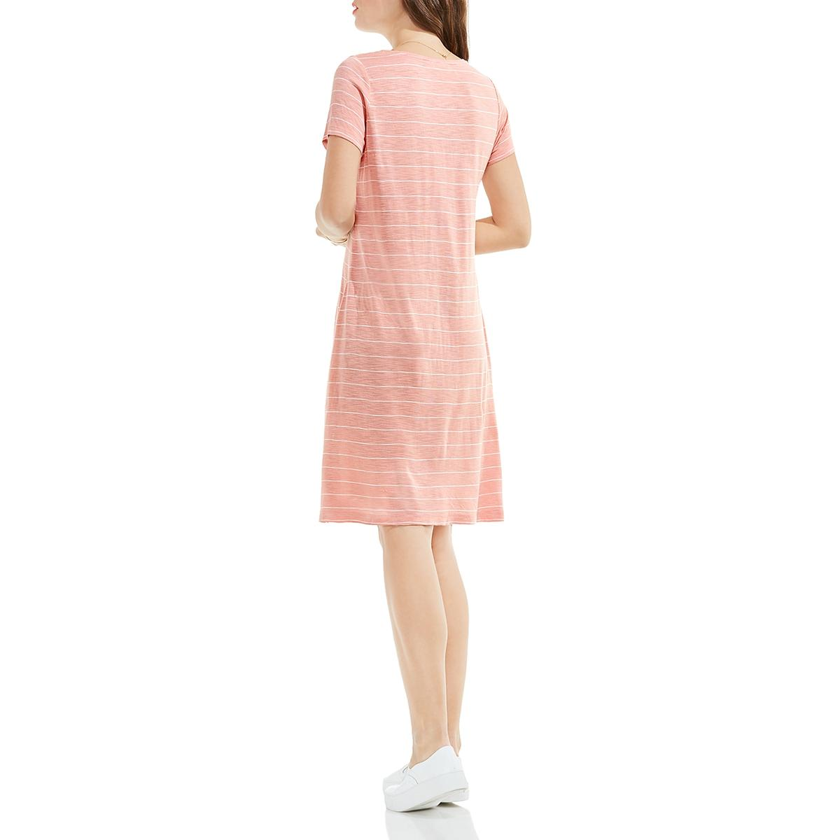 Two By Vince Camuto Womens Short Sleeves Knee Length T Shirt Dress