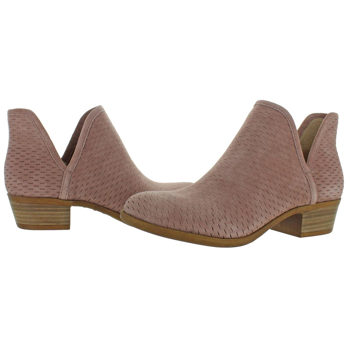 Lucky Brand Womens Baley Perforated Ankle Booties Shoes BHFO 6721