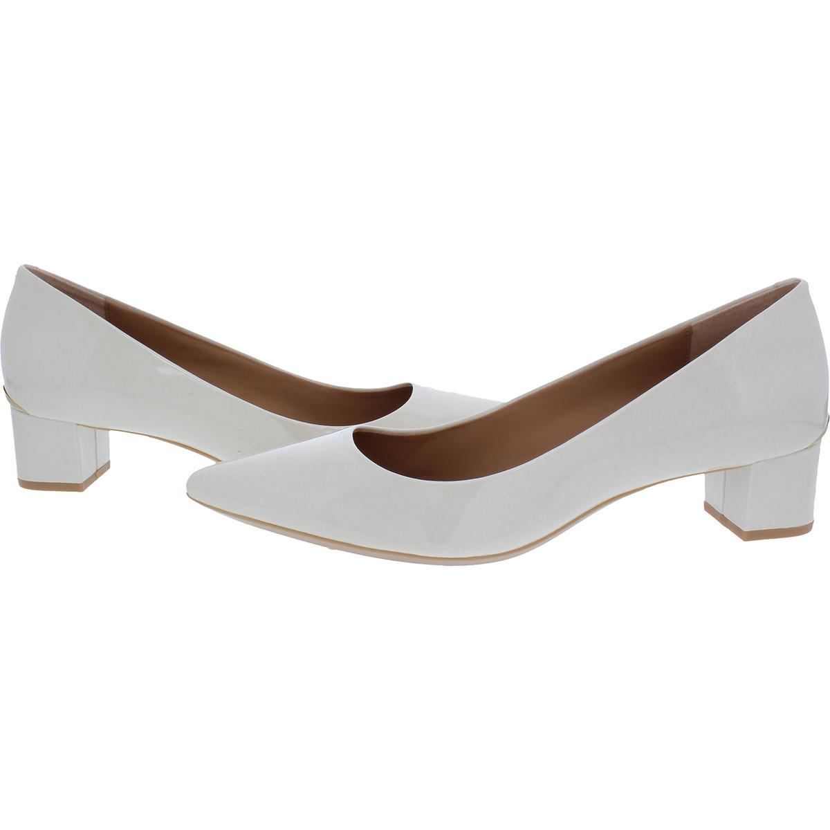 Calvin Klein Damenschuhe Genoveva Pointed Toe Contrast Trim Block Heels BHFO 3183