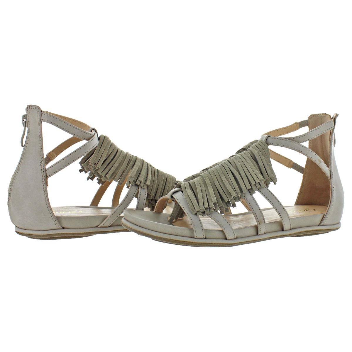 03749ef1de61 Grazie Footwear Women s Trista Leather Fringe Gladiator Sandals Shoes