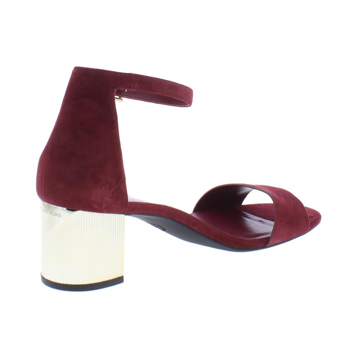 MICHAEL-Michael-Kors-Womens-Paloma-Flex-Suede-Dress-Sandals-Shoes-BHFO-5020 thumbnail 4