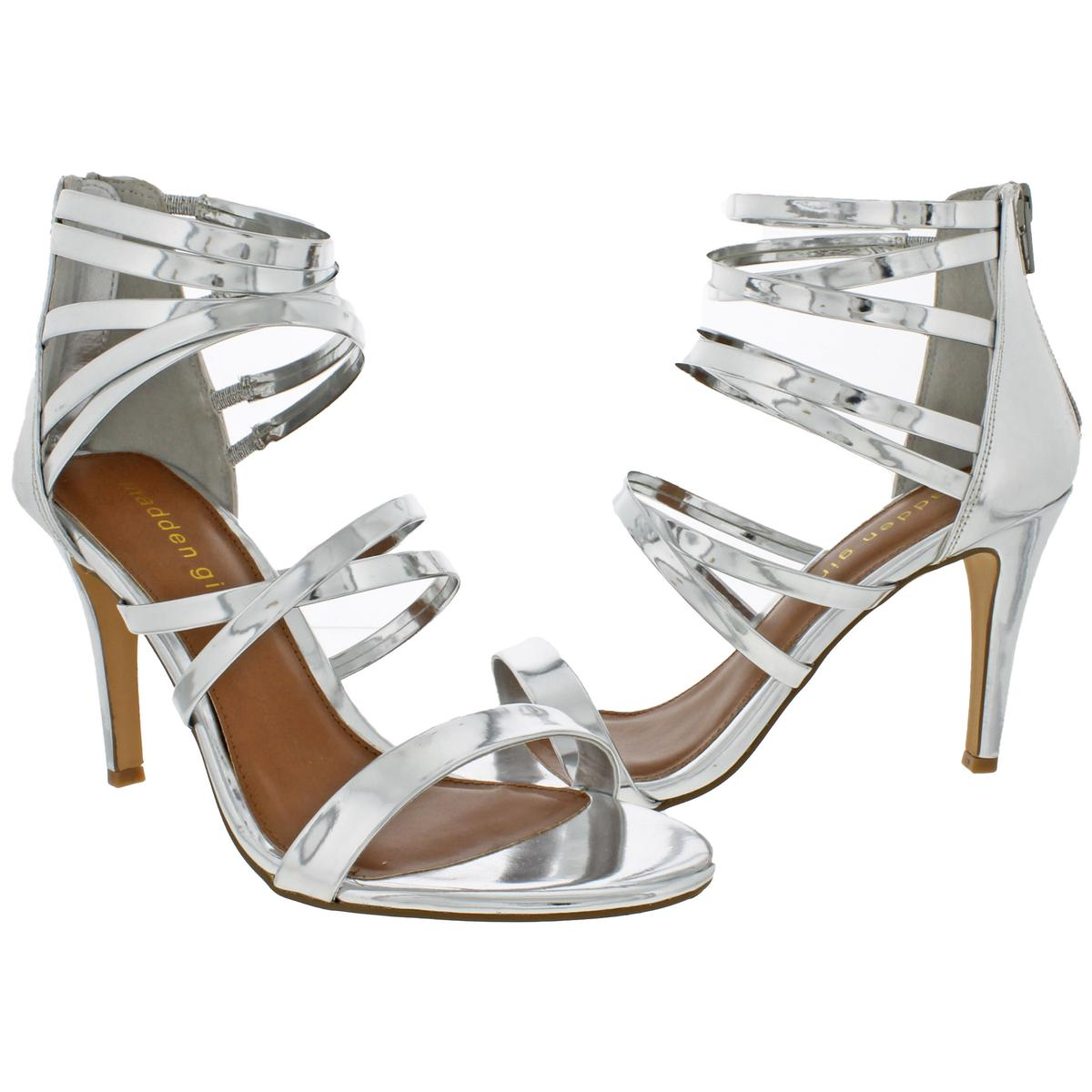 Madden-Girl-by-Steve-Madden-Womens-Babe-Metallic-Strappy-Sandals-Heels-BHFO-9082 thumbnail 5