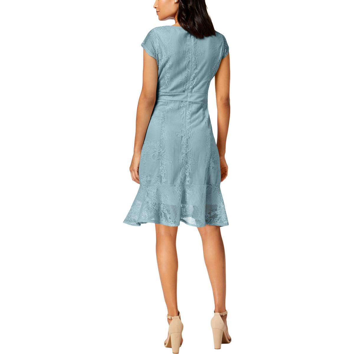NY-Collection-Womens-Floral-Print-V-Neck-Cocktail-Party-Dress-Petites-BHFO-4087 thumbnail 8