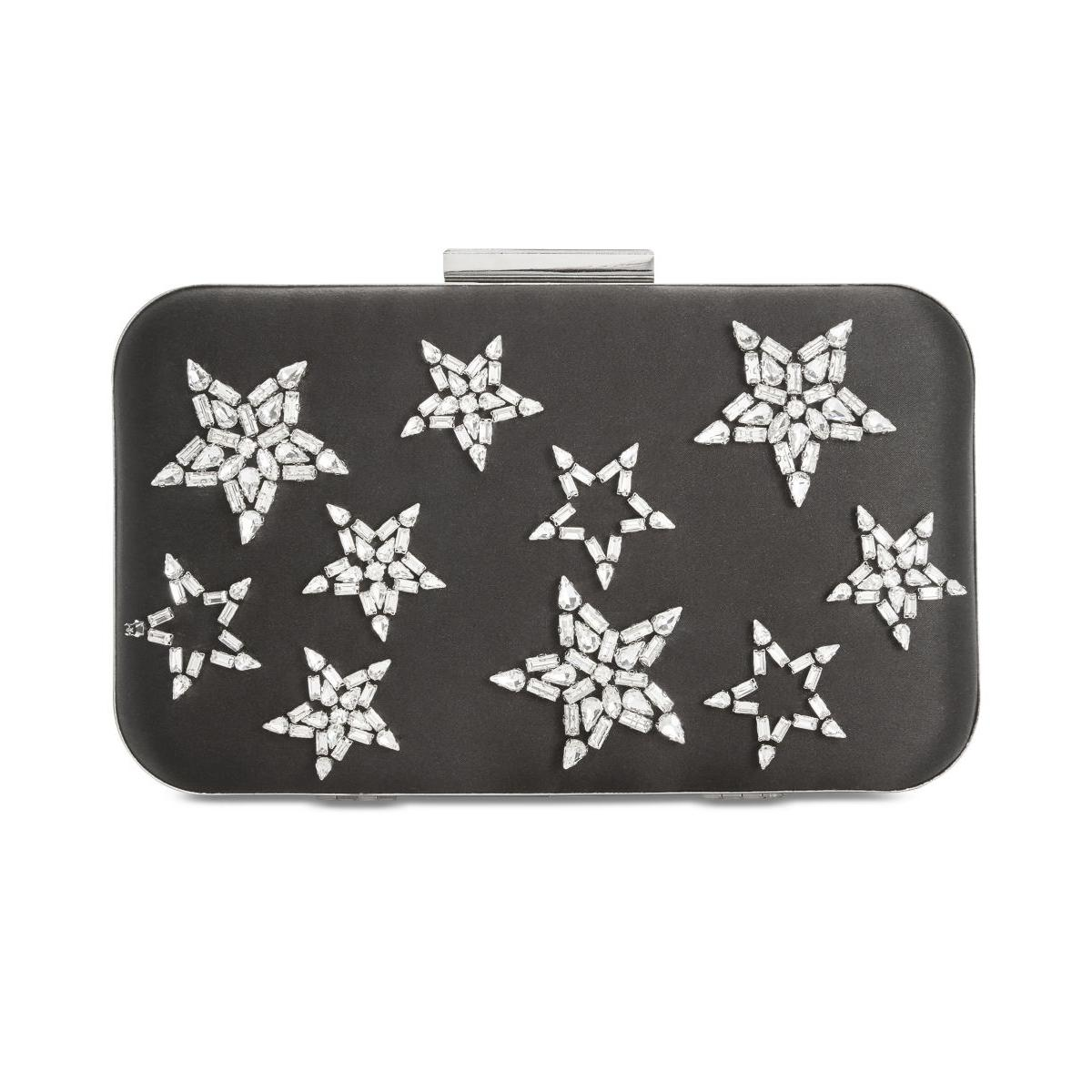 Details About Anna Sui Womens Black Satin Embellished Shoulder Handbag Purse Small Bhfo 9876