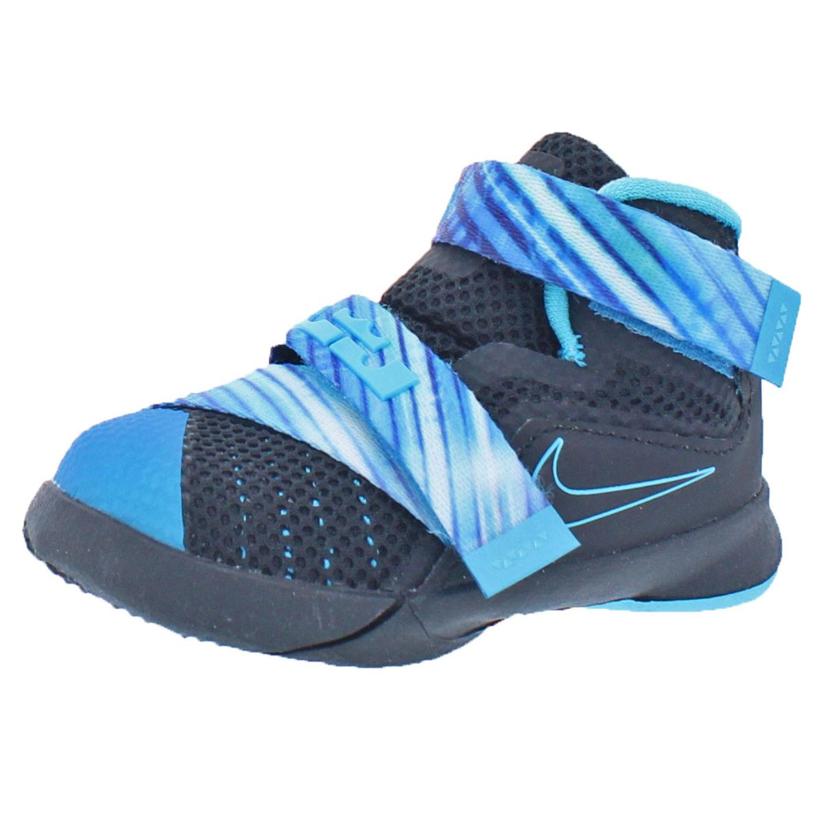 7583e7358b5 Details about Nike Boys LeBron Soldier IX Black Basketball Shoes 4 Medium  (D) Toddler 2384