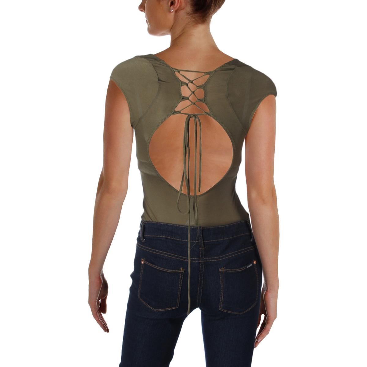 Buy Intimately People Womens All About The Back Green Bodysuit M ... b1e27524f