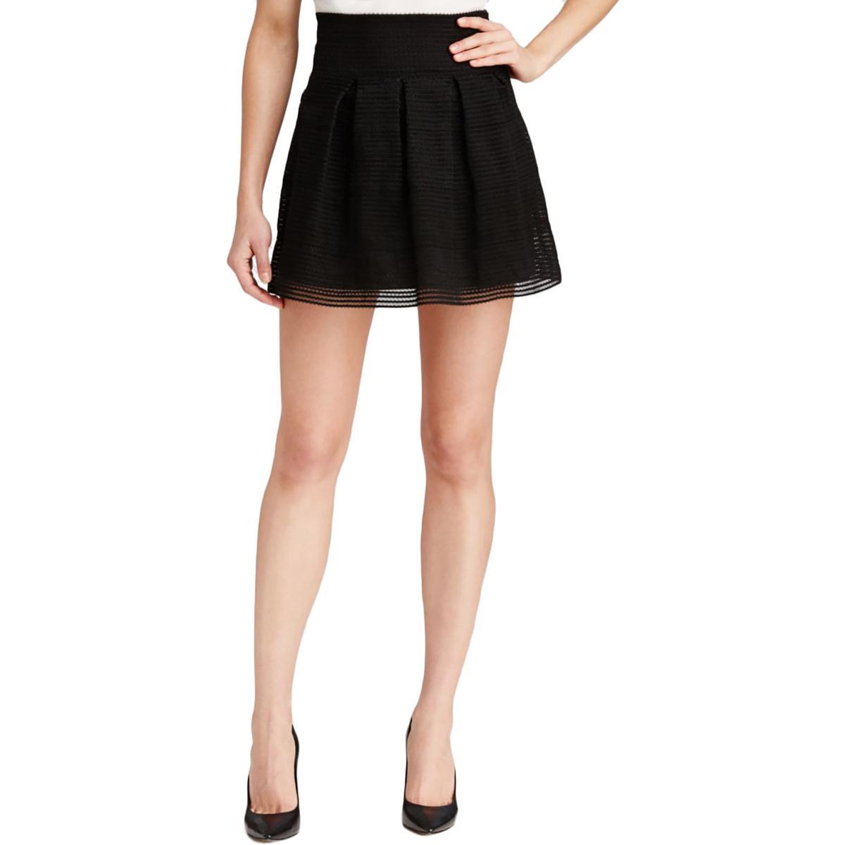 aqua 1118 womens metallic above knee a line skirt bhfo ebay