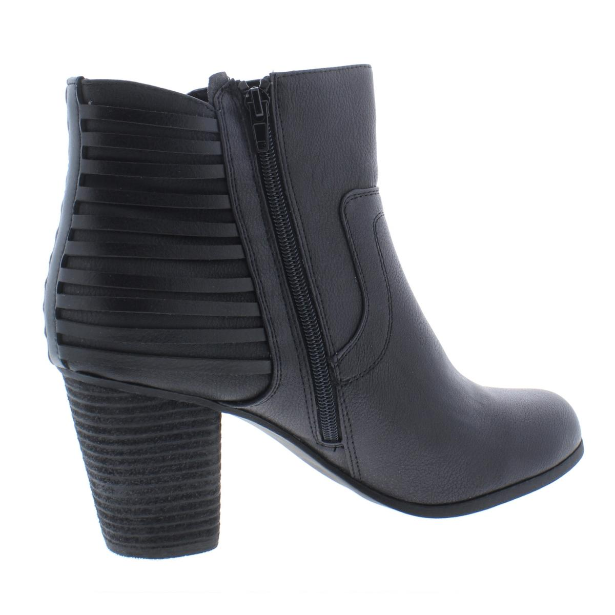 a34c854aa93 Madden Girl Womens Dusk Black Stacked BOOTIES Shoes 7.5 Medium (b M ...