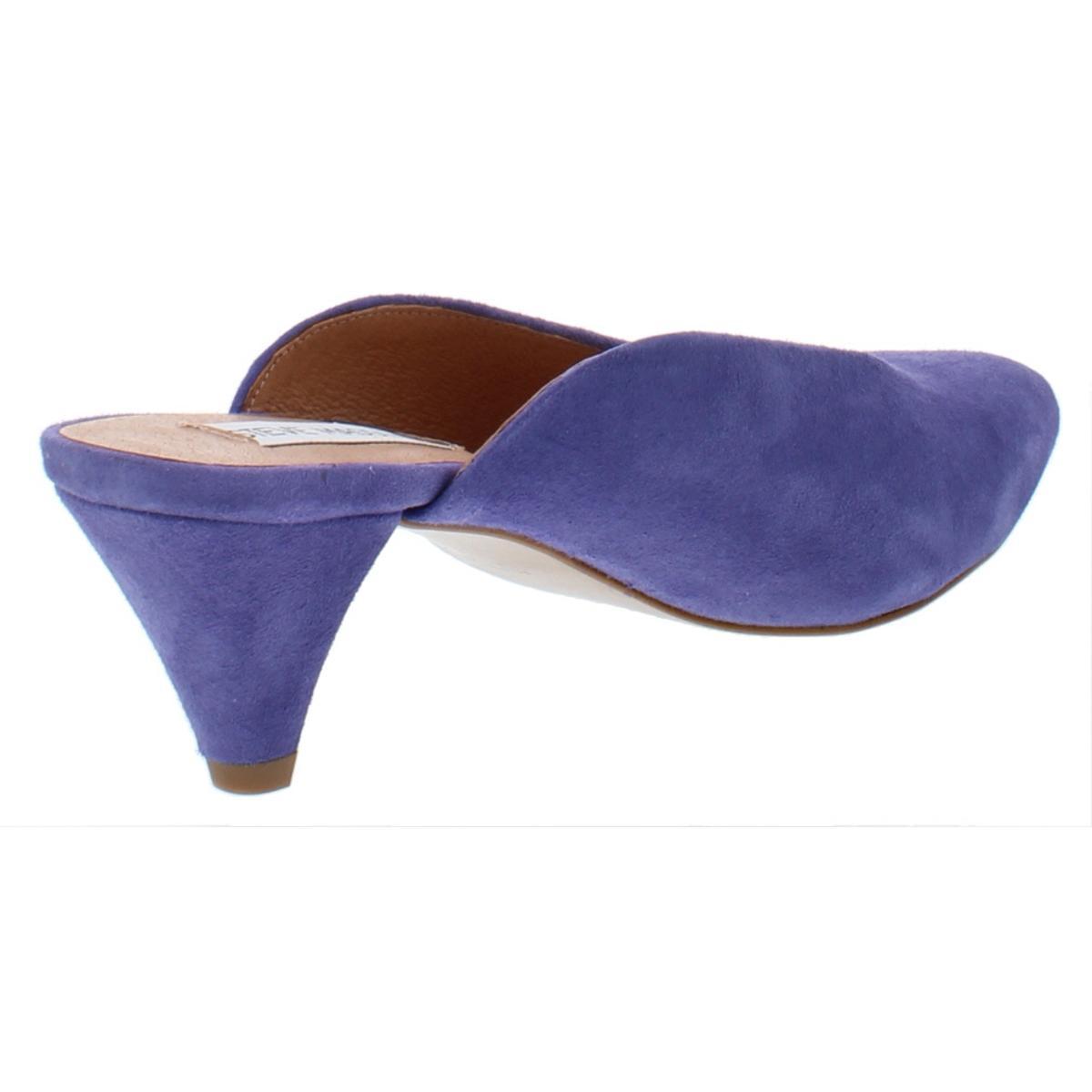 Steve-Madden-Womens-Fiesta-Leather-Pointed-Toe-Dress-Mules-Heels-BHFO-0632 thumbnail 6