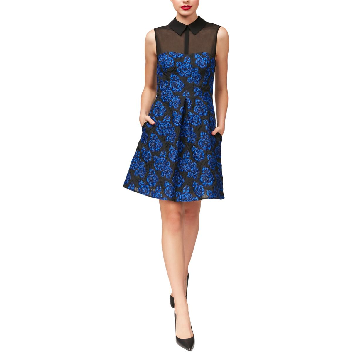 23e25a612ea Details about Betsey Johnson Womens Black Sleeveless Mini Floral Print  Party Dress 4 BHFO 3208