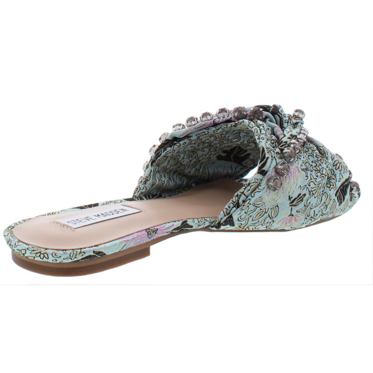 3f74fc188b1 Steve Madden Womens Cheeky Multi Slides Flats Shoes 6 Medium (b M) BHFO 4828