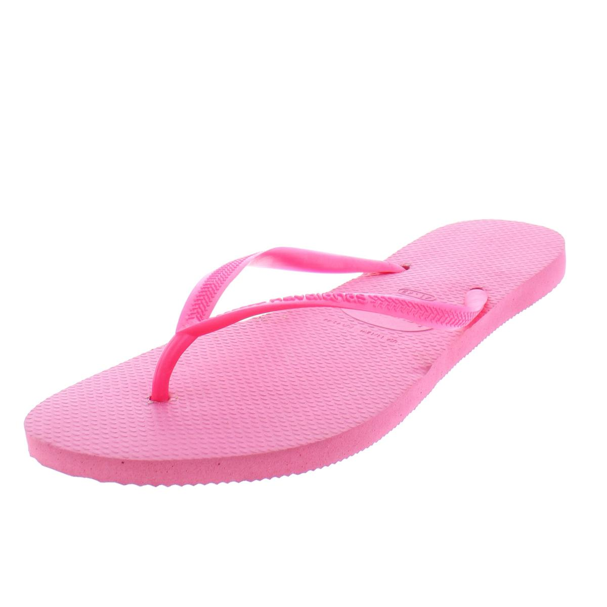 3576f5f5f Details about Havaiana Womens Slim Pink Thong Flip-Flops Sandals 9-10  Medium (B