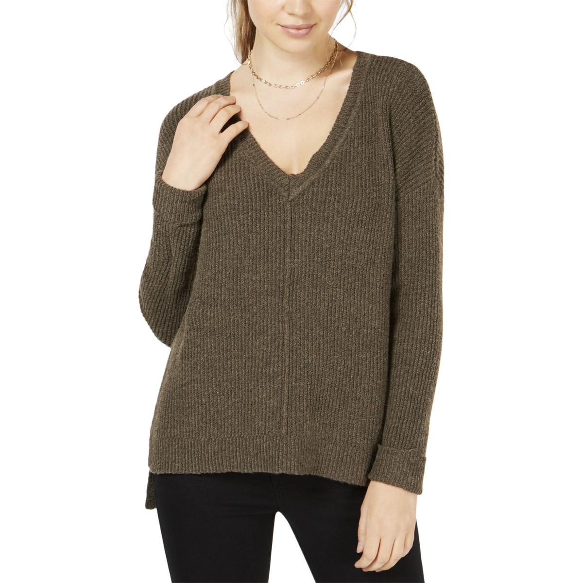 LNA Womens Kindred Ribbed Knit Sweater
