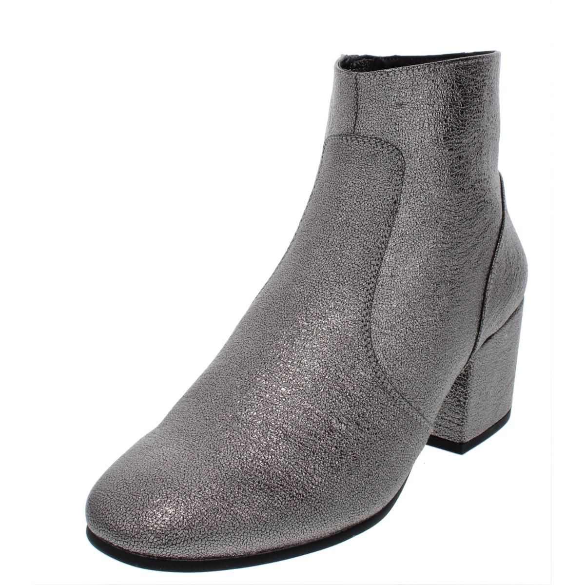 13ad516a592 Details about Steve Madden Womens Kristina Silver Ankle Boots Shoes 7.5  Medium (B