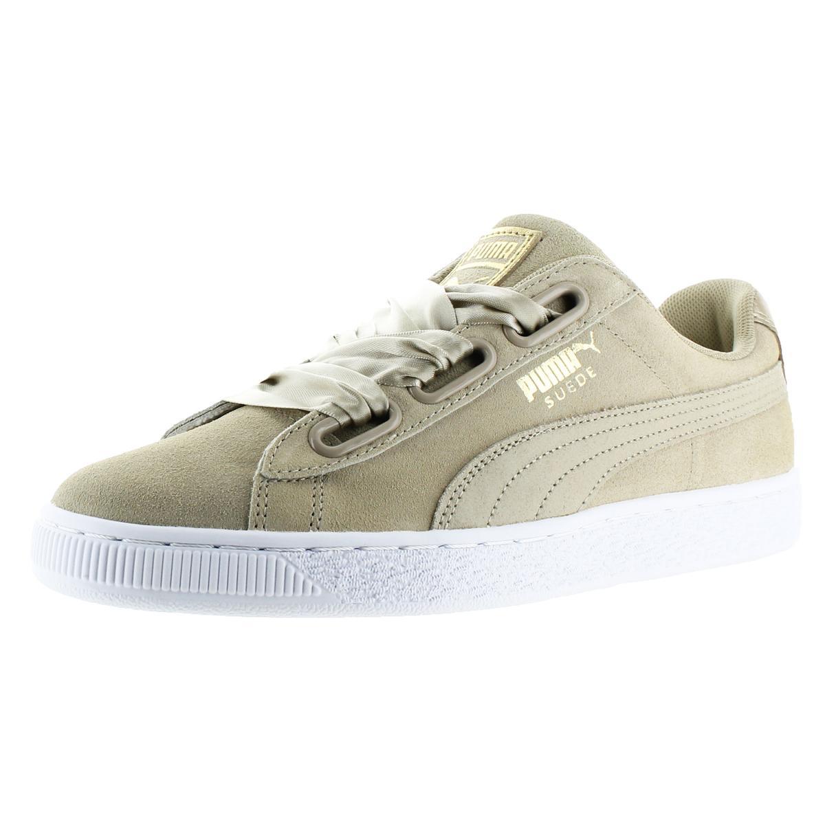 a0944fc8d27474 Details about Puma Suede Heart Safari Women s Satin Bow Lace-Up Athletic  Fashion Sneaker Shoe