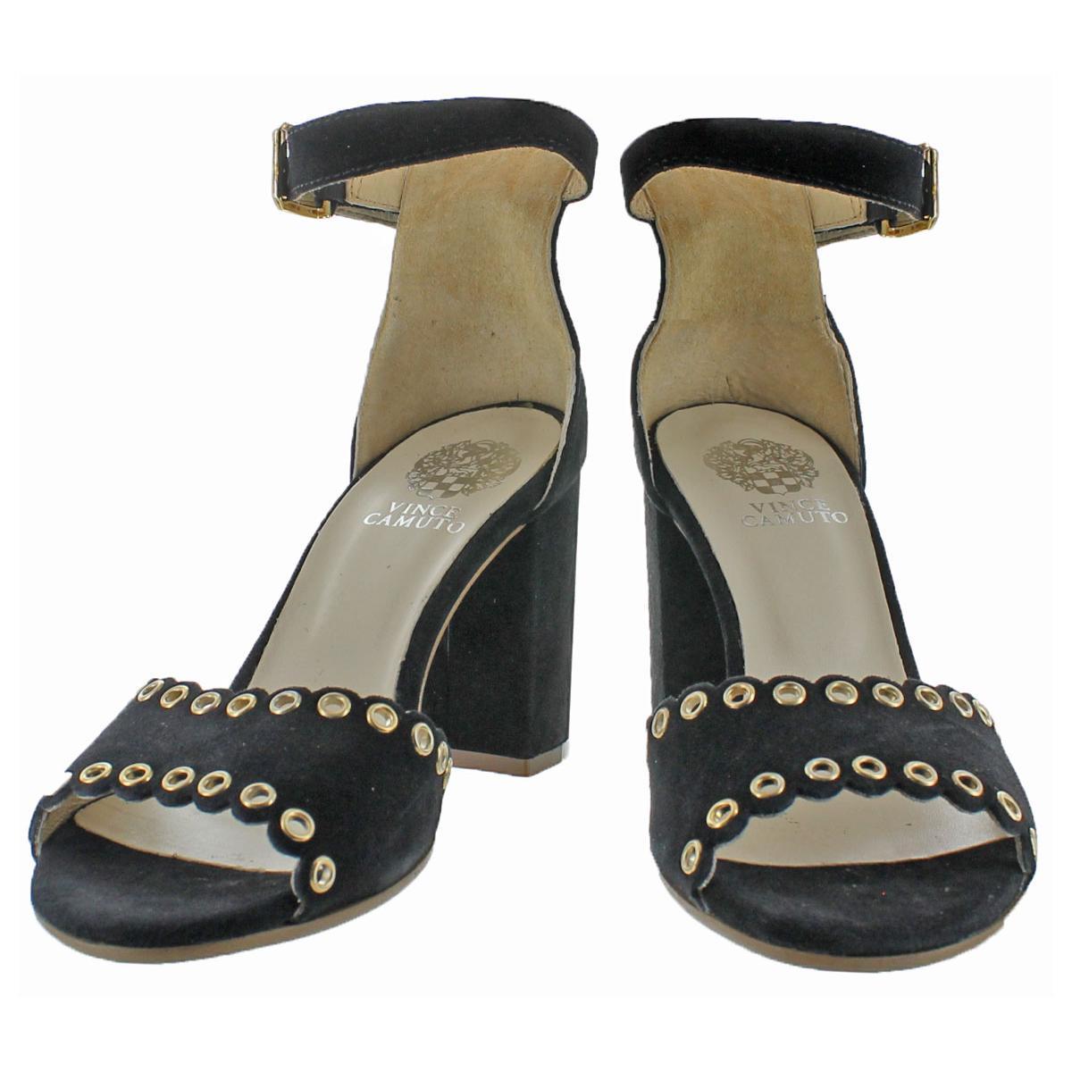 Vince-Camuto-Missy-Women-039-s-Suede-Open-Toe-Block-Heel-Dressy-Sandal-Shoes thumbnail 4