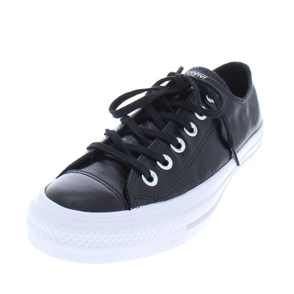 3949dffb9b6 Details about Converse Womens Patent Leather Low Top Oxford Casual Shoes  Sneakers BHFO 8292