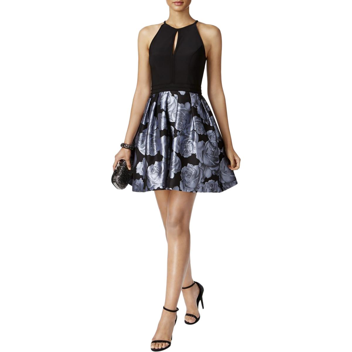 45848ac5e5 Details about Xscape Womens Floral Print Halter Party Semi-Formal Dress  BHFO 1763