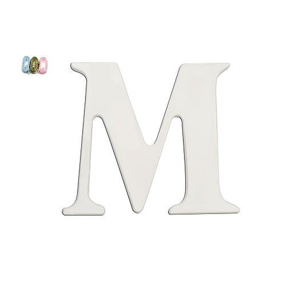 BABIES R US NEW M White Wooden Personalizable Letter Wall
