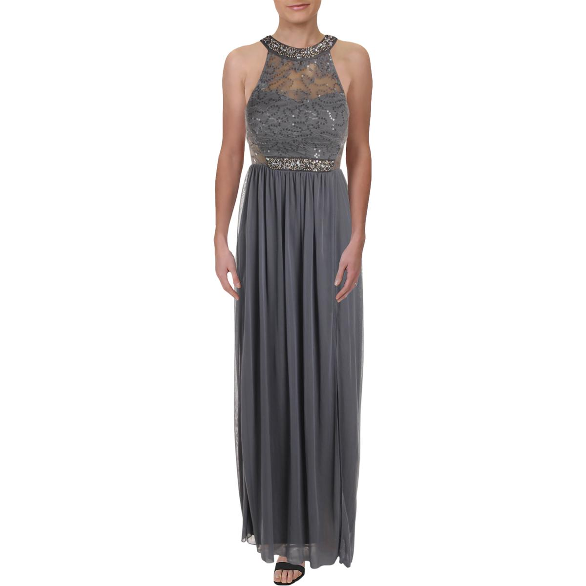 Tadashi Shoji Womens Sequined Formal Embroidered Evening Dress Gown BHFO 7462