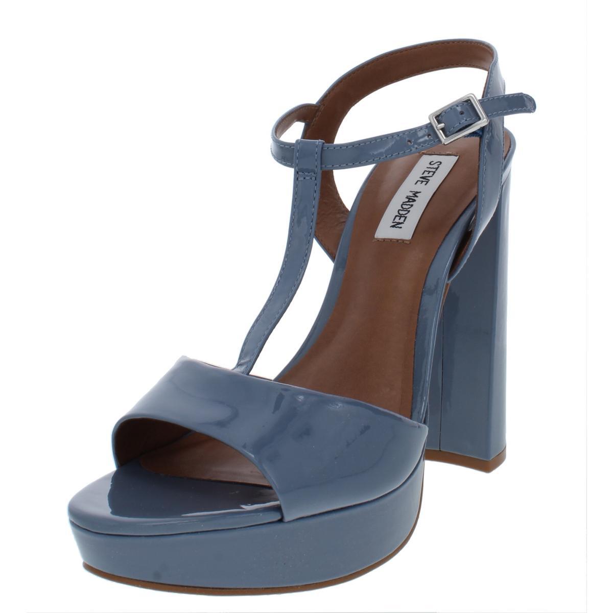 e7fe0f1a2b6 Details about Steve Madden Womens Kinder Blue Platform Sandals Shoes 10  Medium (B