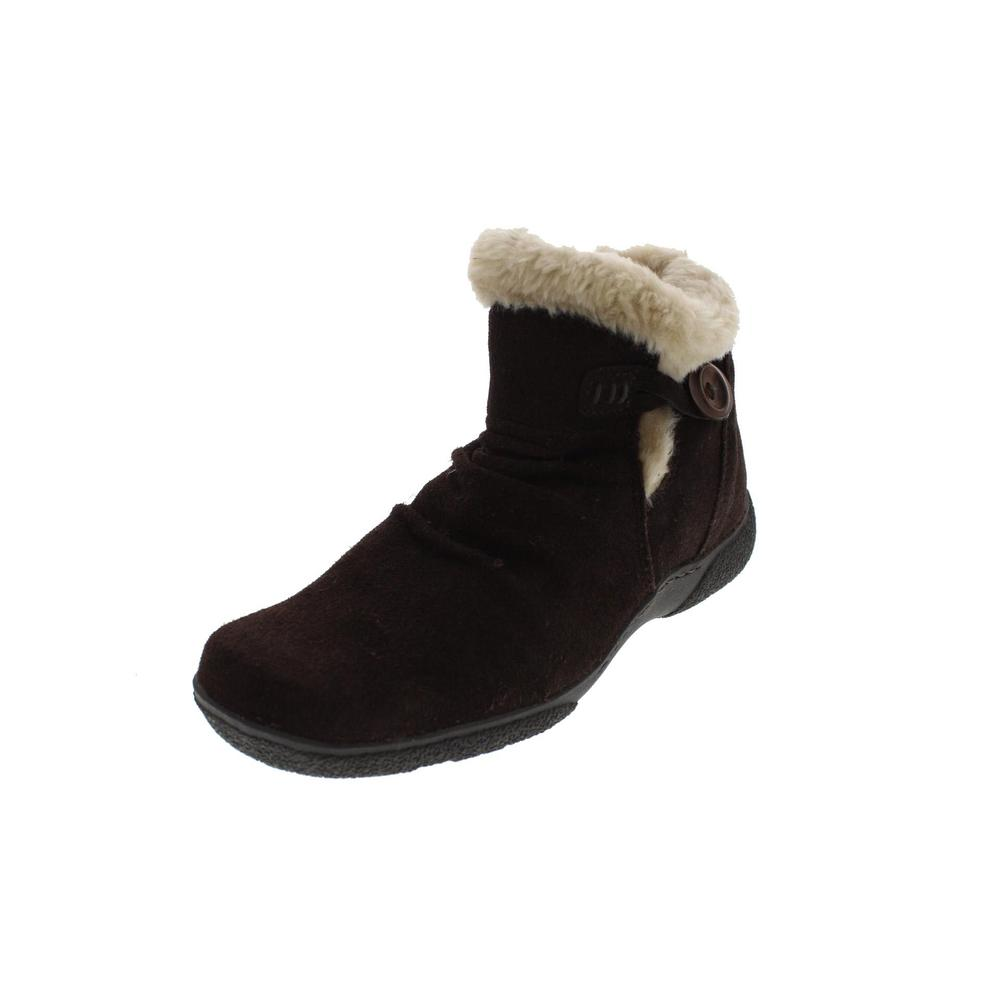 bare traps new loran brown lined suede ankle boots 9 5