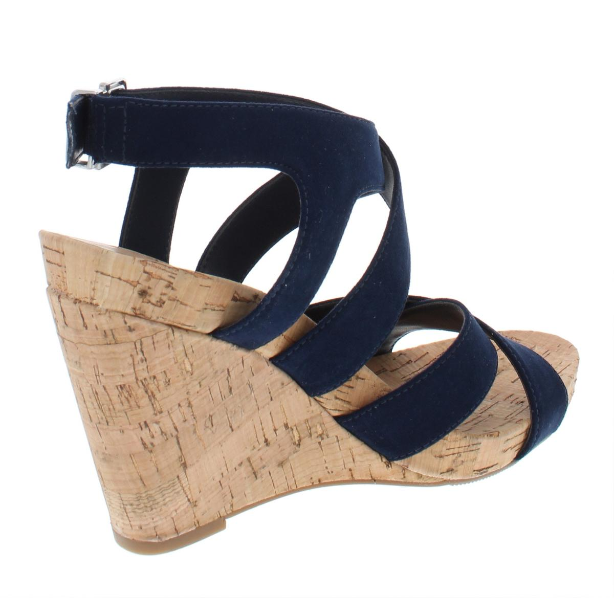 INC-Womens-Landor-Solid-Strappy-Ankle-Strap-Wedges-Sandals-BHFO-6322 thumbnail 4